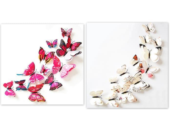 Detail Gambar TERLARIS 12pcs Wall Sticker Butterfly 3D: Stiker Dinding Kupu Kupu Timbul Murah - yEjvLRtD Terbaru