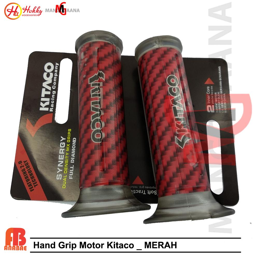 [promo] handgrip motor kitaco karet gas motor/hgrip motor variasi motor-red