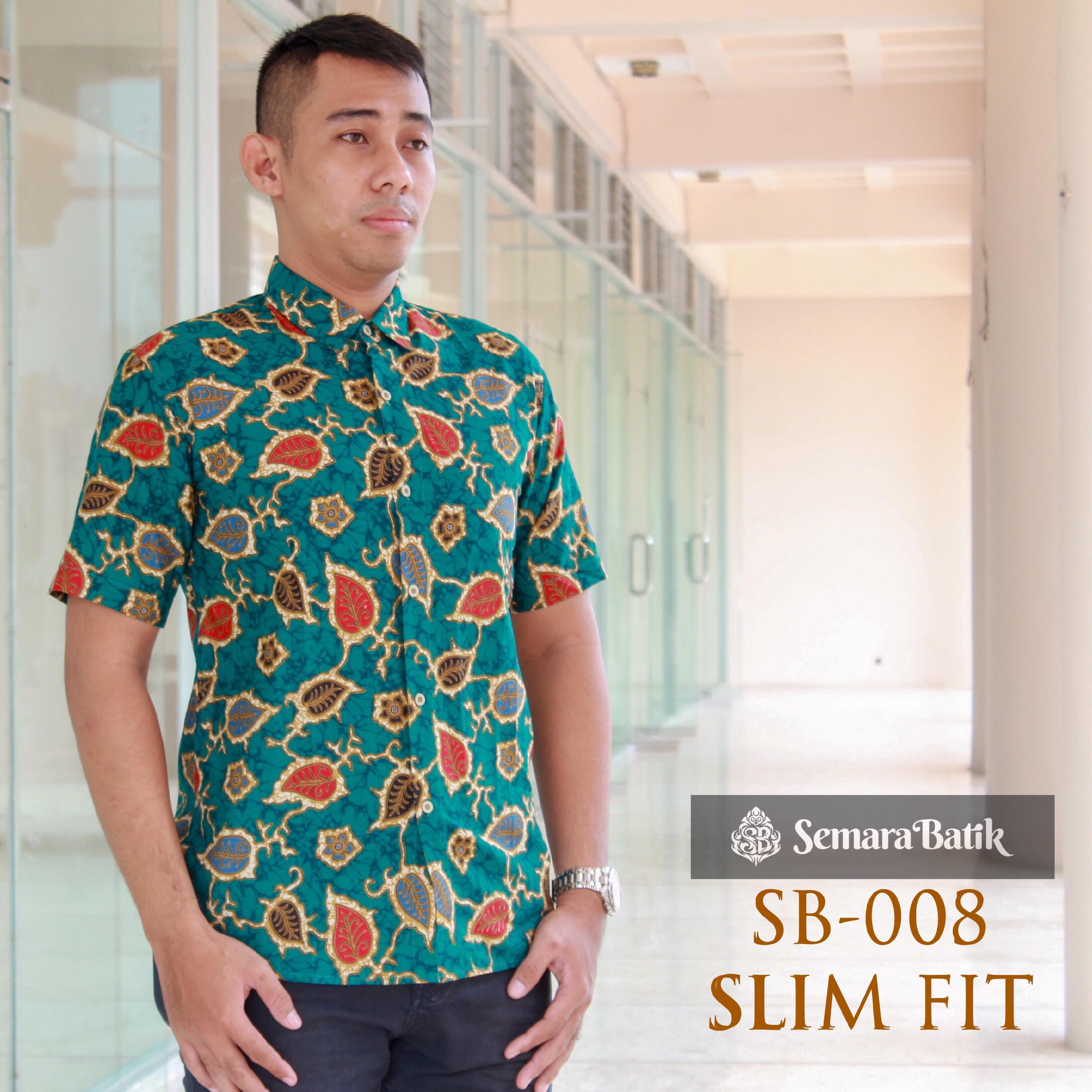 Baju Kemeja Batik Pria / Batik Slimfit Pria / Batik Modern / Atasan Pria / Kemeja