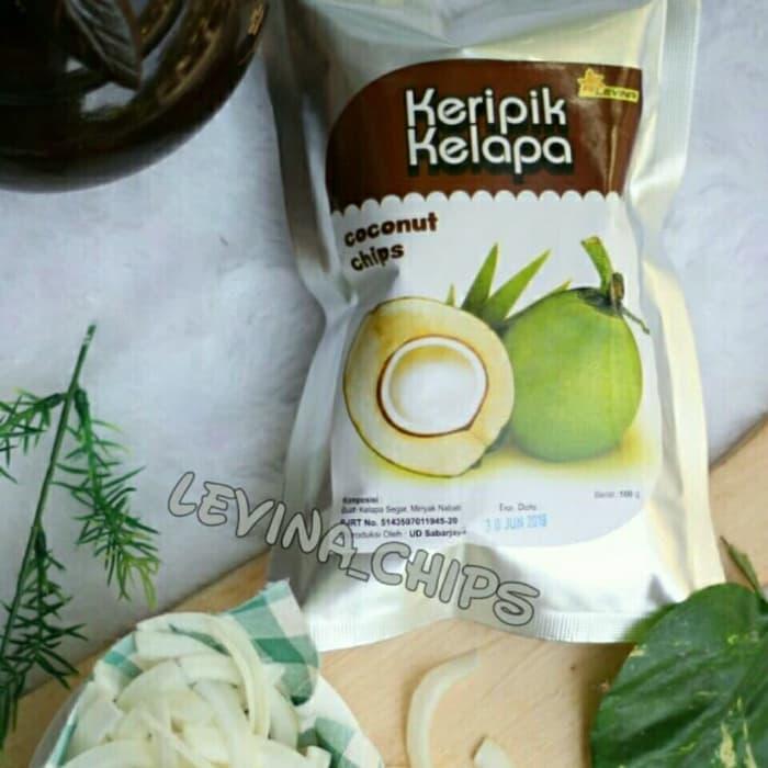 keripik kripik buah kelapa levina 100 gram rasa original