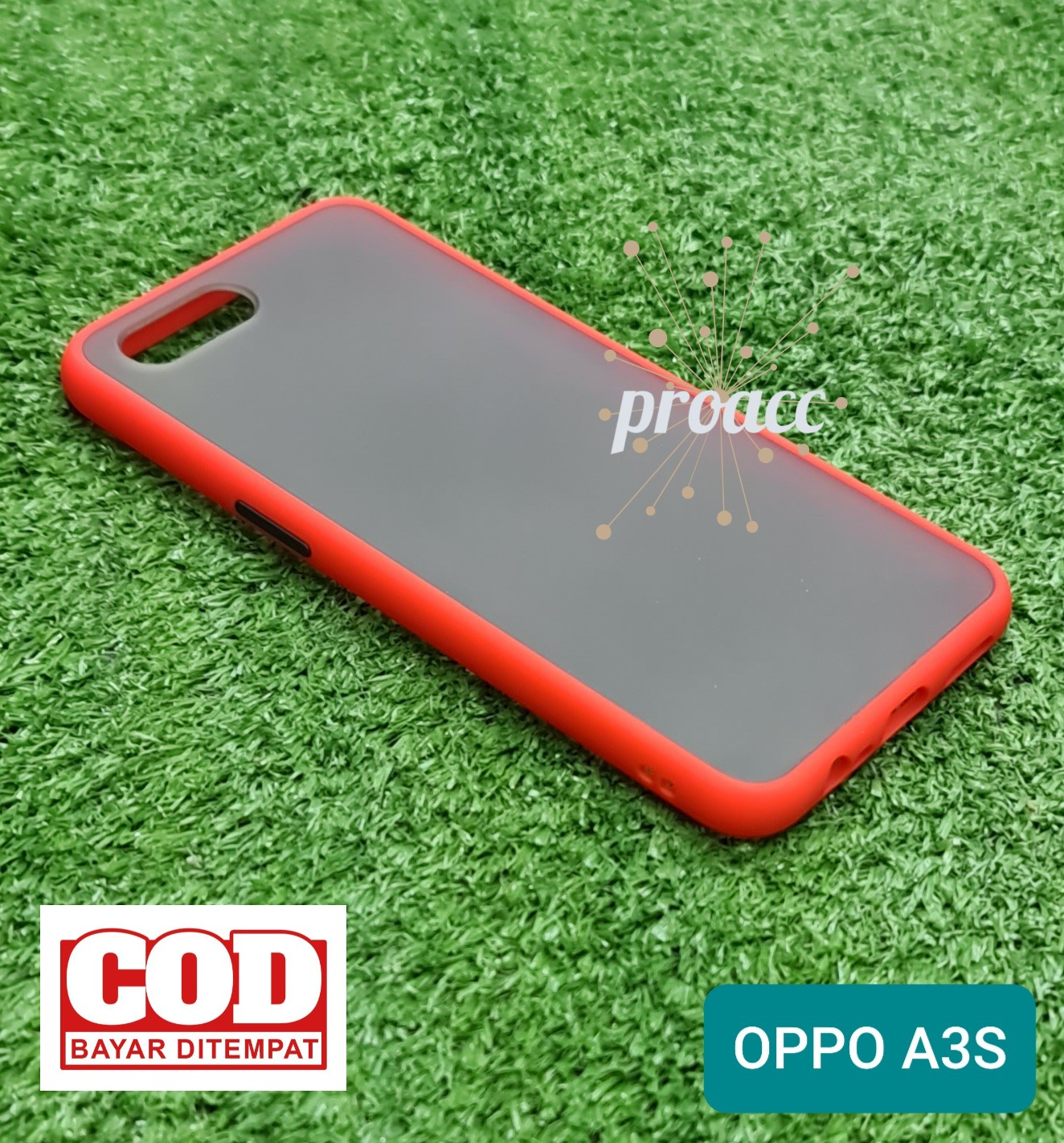 Case Matte OPPO A3S Premium cover High Quality Bumper Aero Back Casing HP bumper softcase