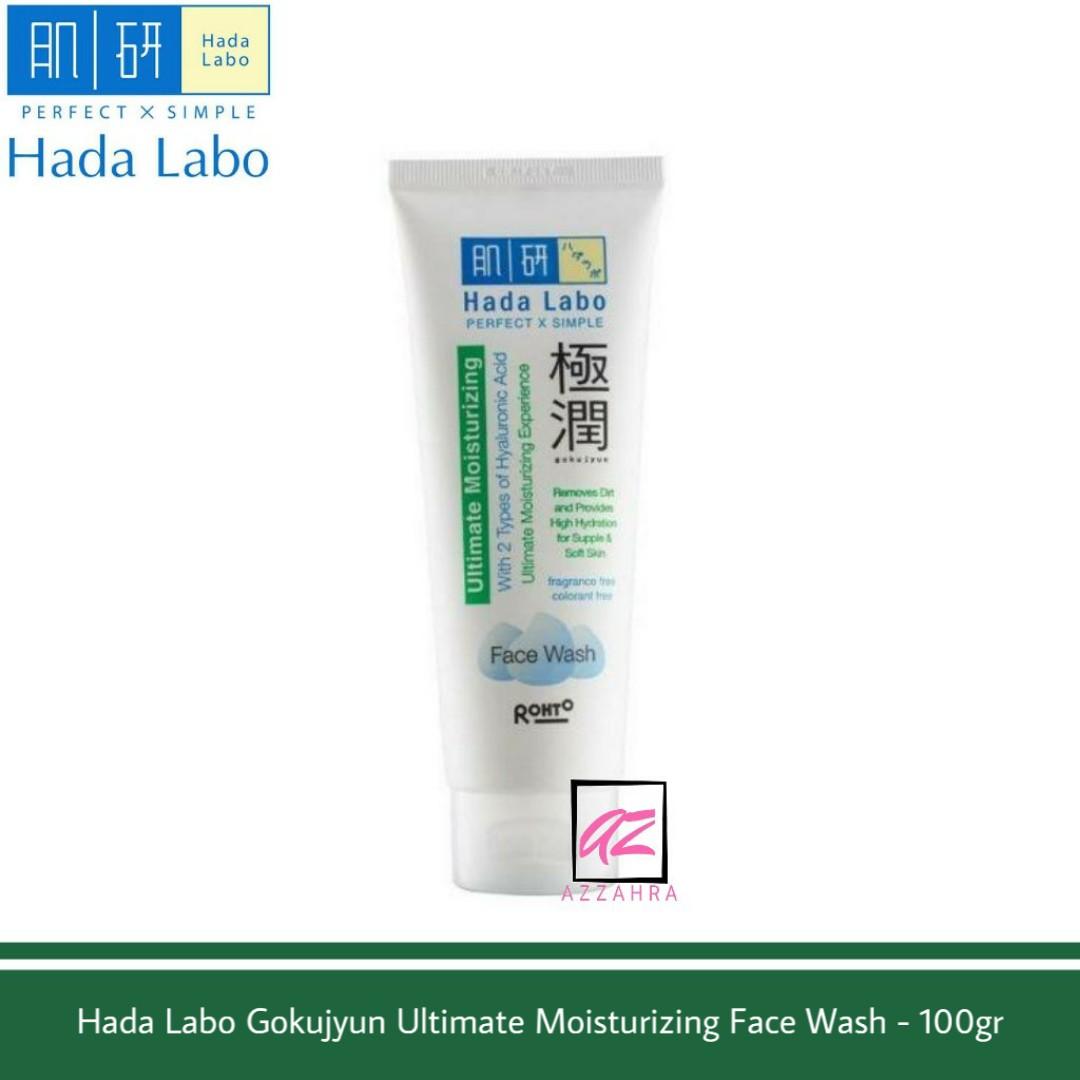 hada labo gokujyun ultimate moisturizing face wash – 100gr