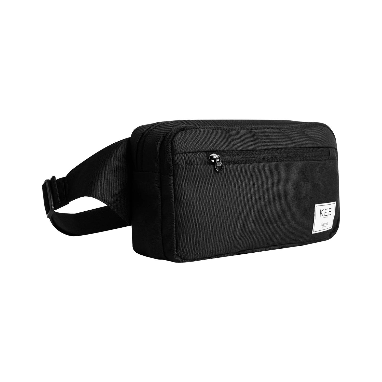 kee tas selempang pria tas sling bag waist bag ventral edition black