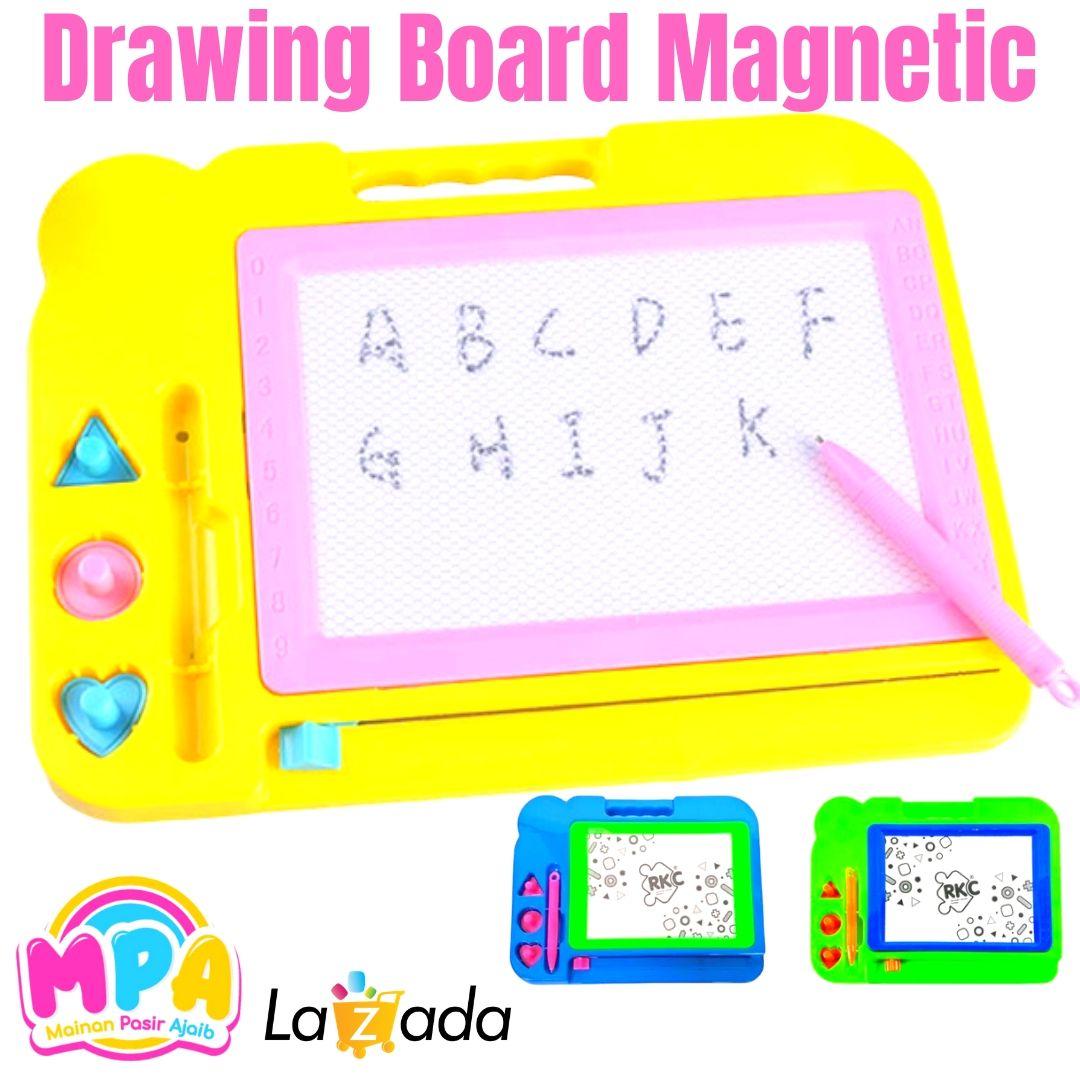 mainan anak papan tulis magnet hapus/ drawing board