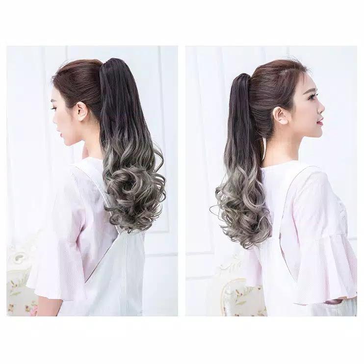 hair clip ponytail ombre tali pita jepit kimiko