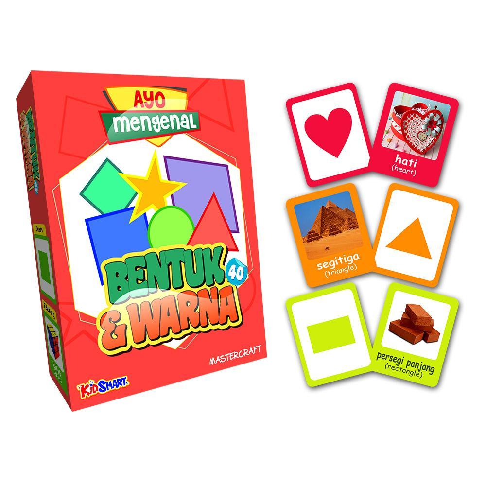 bentuk warna – flashcard kartu pintar bayi balita bahasa  inggris