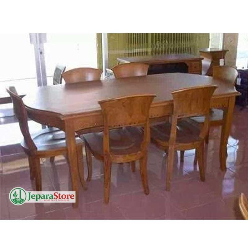 jeparastore – meja makan kipas 6 kursi