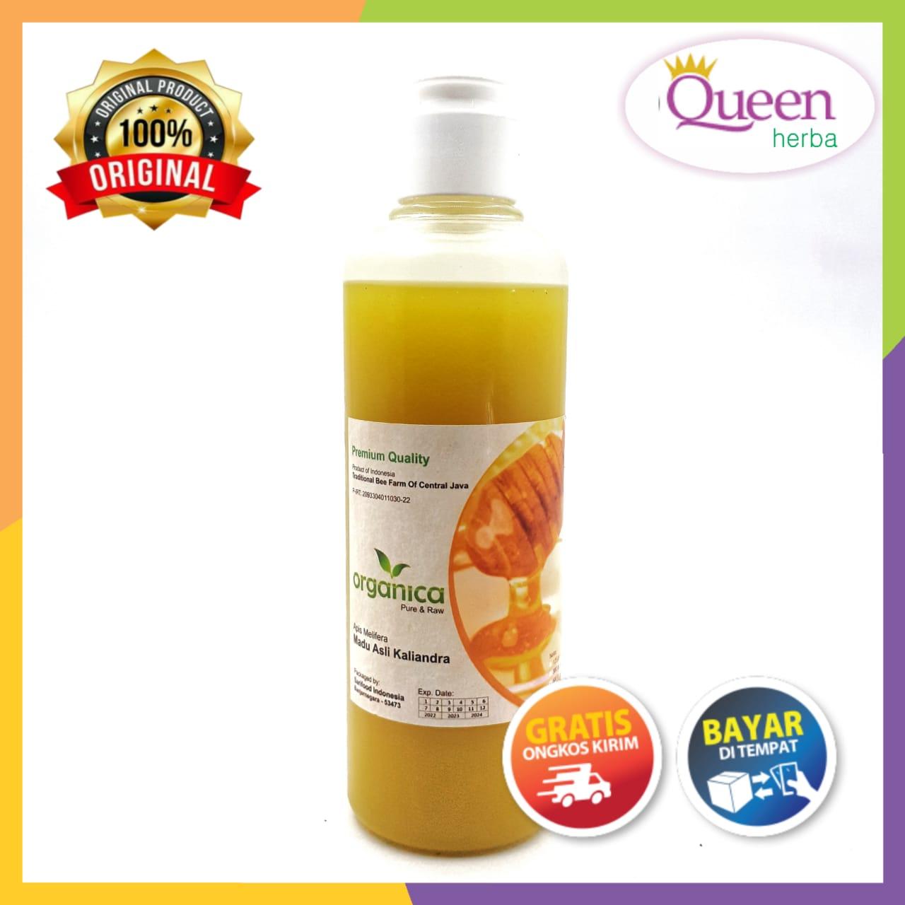 madu kaliandra murni – madu asli bunga kaliandra – madu raw kaliandra – madu bunga kaliandra 300 gr – queen herba