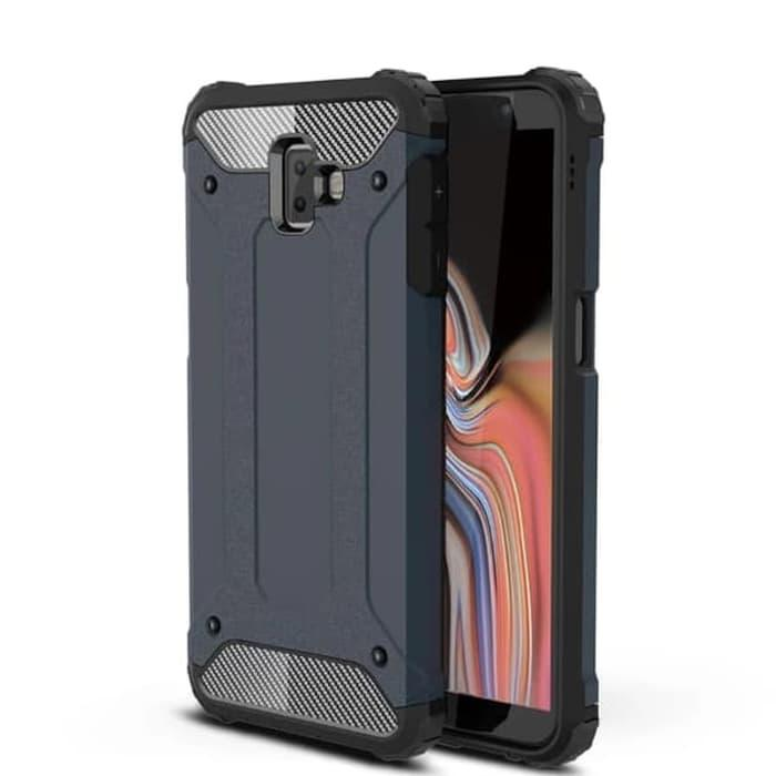 Hardcase Spigen Iron Samsung J6 Plus Case / Casing SoftCase j6 prime