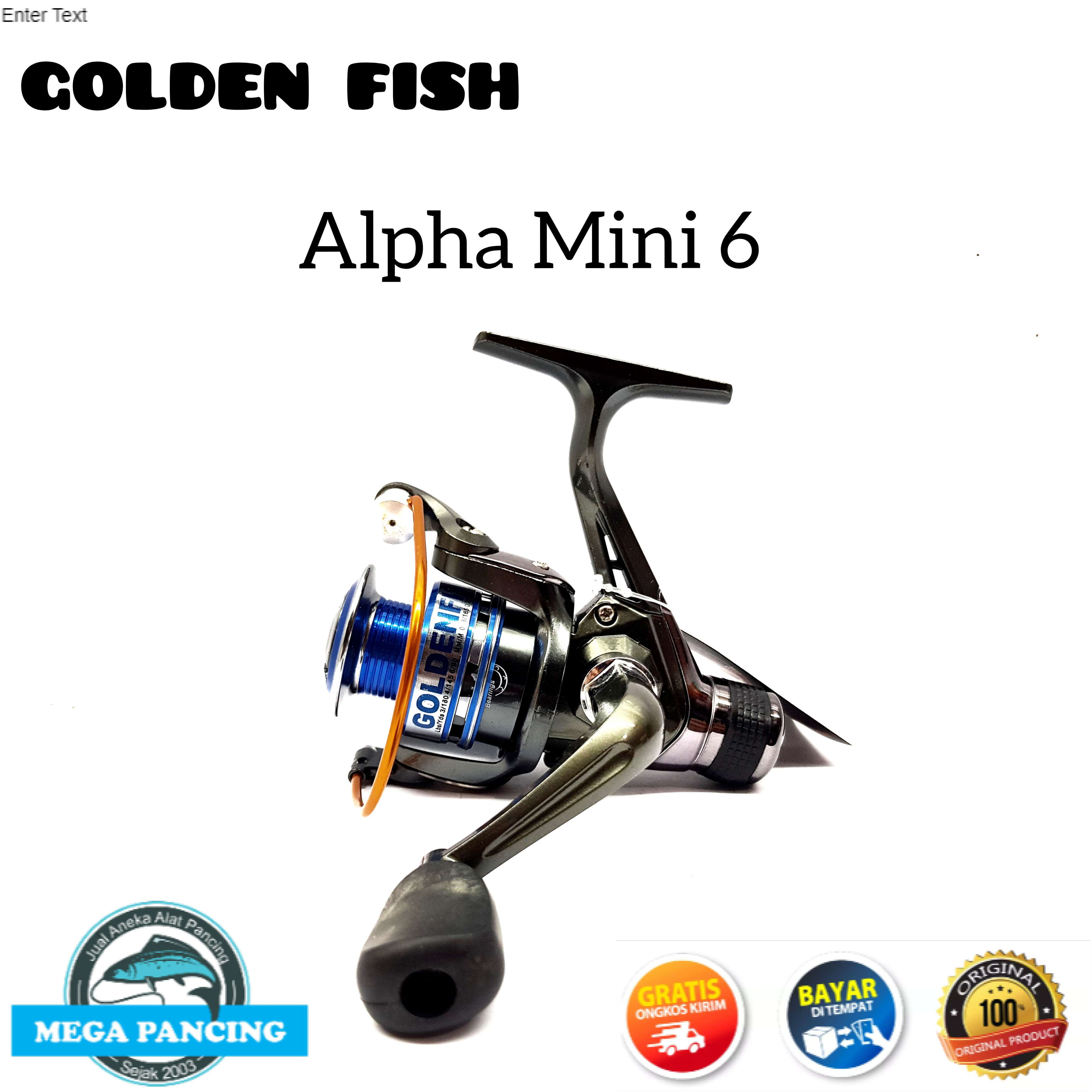 reel pancing golden fish alpha mini 6