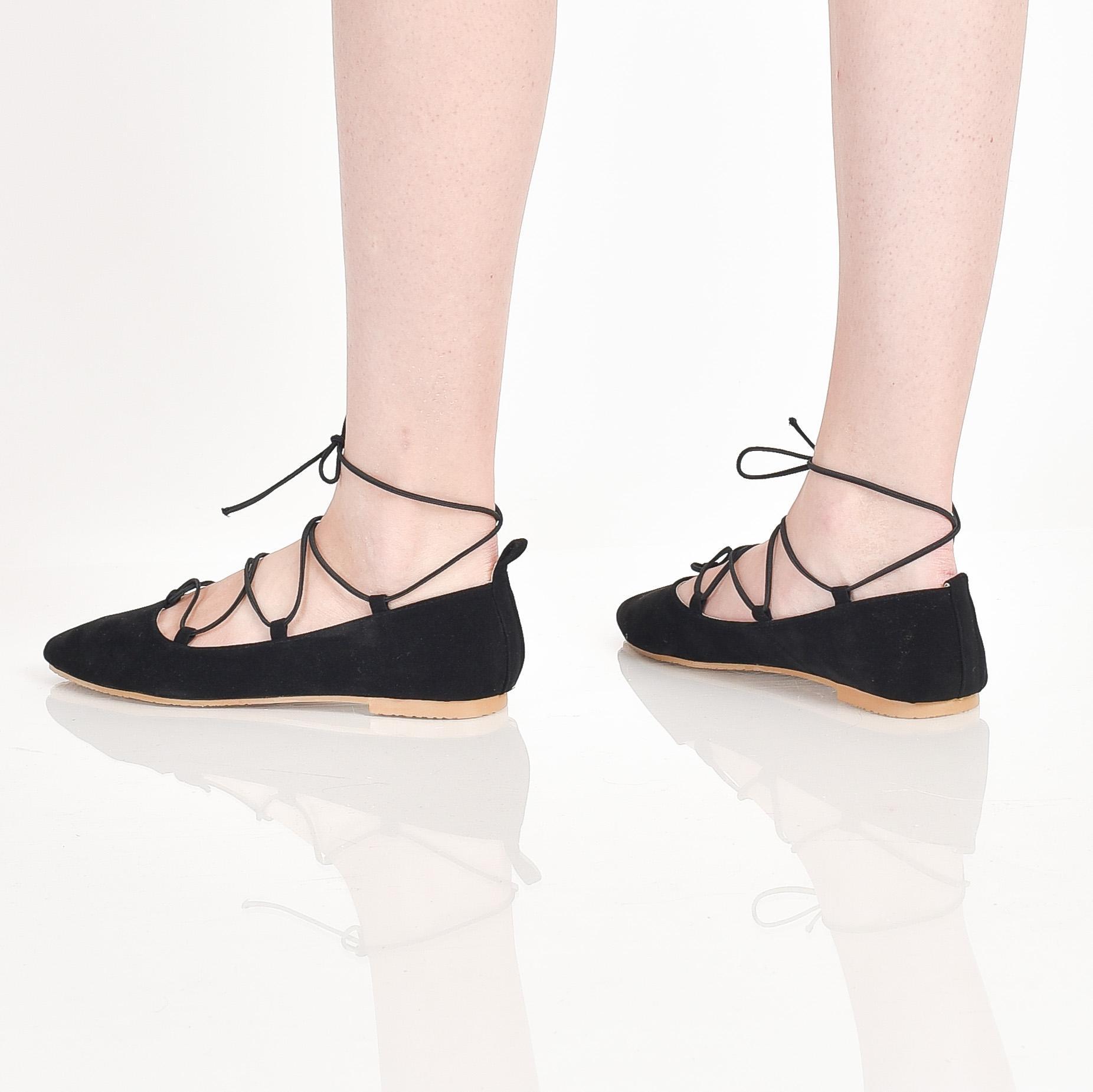 Bebbishoes-Ballerina Flatshoes-Black - 3 .