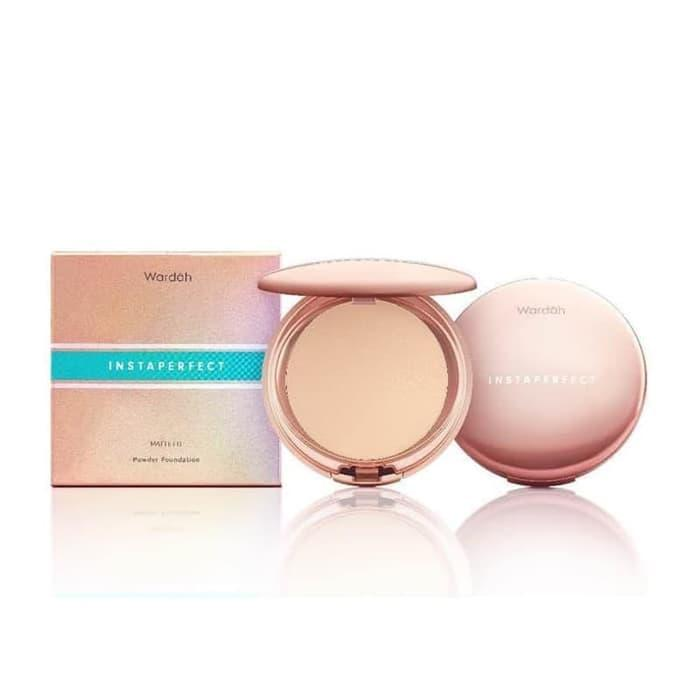 Wardah Instaperfect MATTE FIT Powder Foundation - 14 Creme - 2