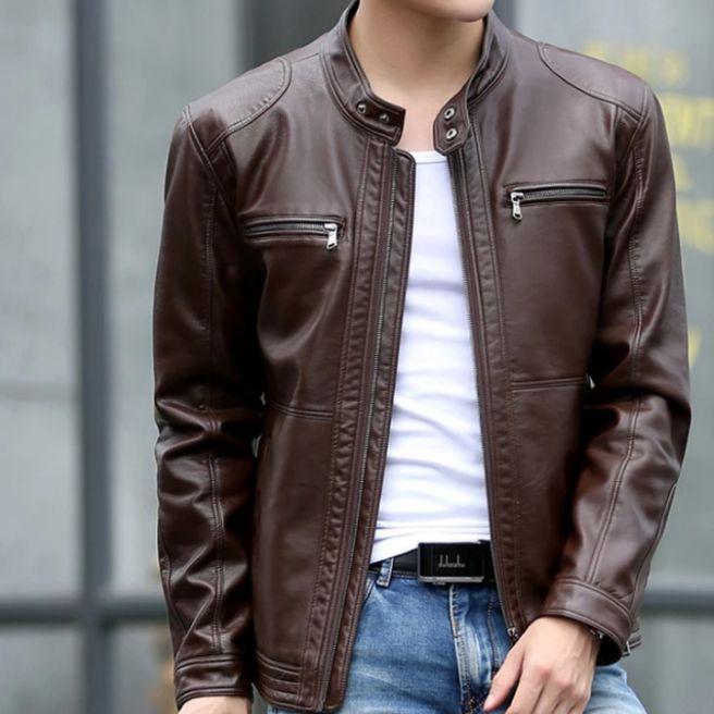 jaket semi kulit nwes/jaket kulit pria