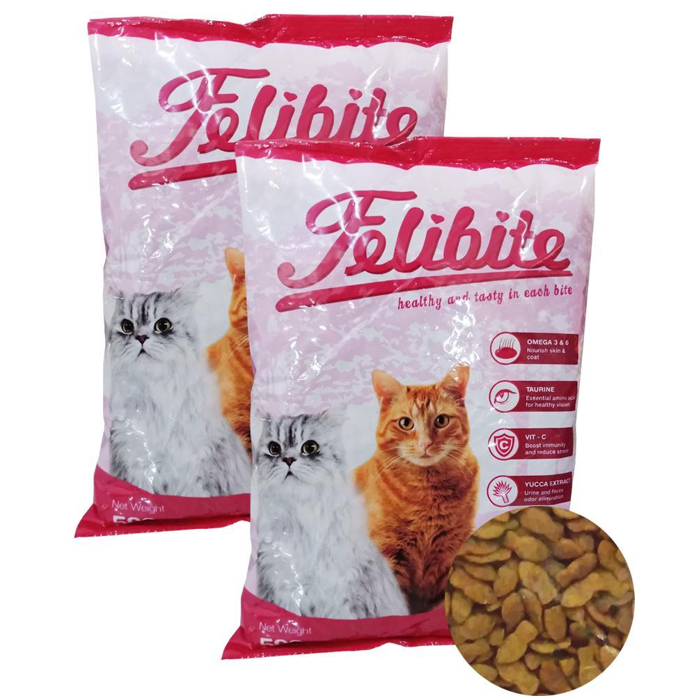 pakan / makanan kucing kering felibite bentuk ikan 500 gram / 1kg