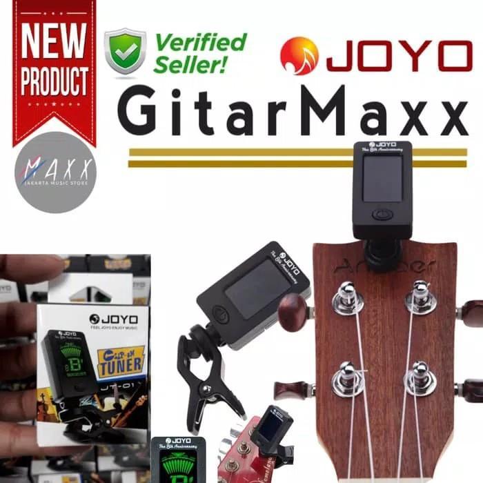 TUNER GITAR - tuner Joyo JT01 Digital Tuner clip Gitar Bass ukulele