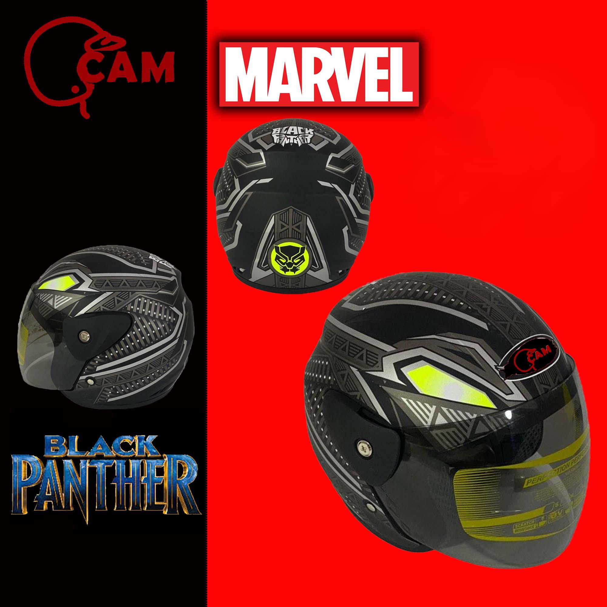 helm evolution black panther silver doff  sni bukan gm