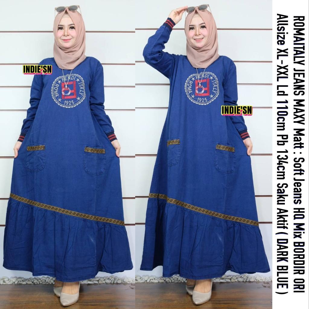 Review Zee Jeans Maxy Premium Dress Brokat Modern Hijab Model Baju