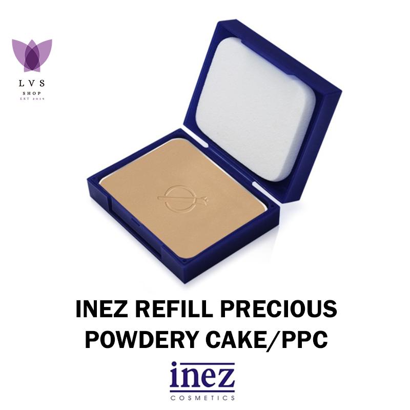inez – refill precious powdery cake (8 warna) – lvs shop