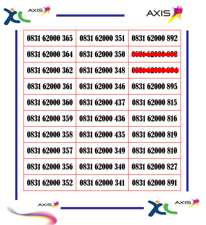 nomor cantik kartu axis 4g lte xl  seri 2000
