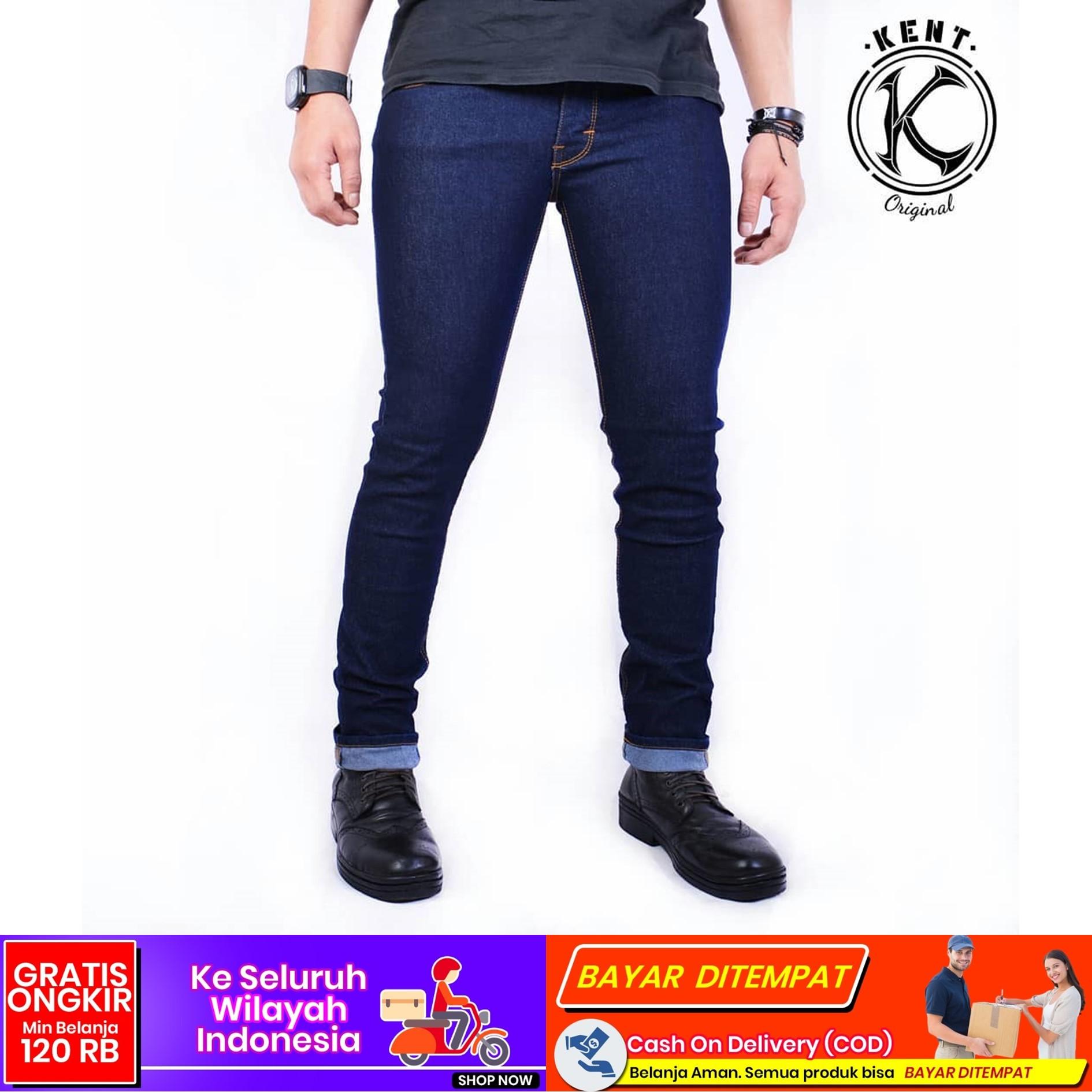 cod celana jeans kent original navy  keren