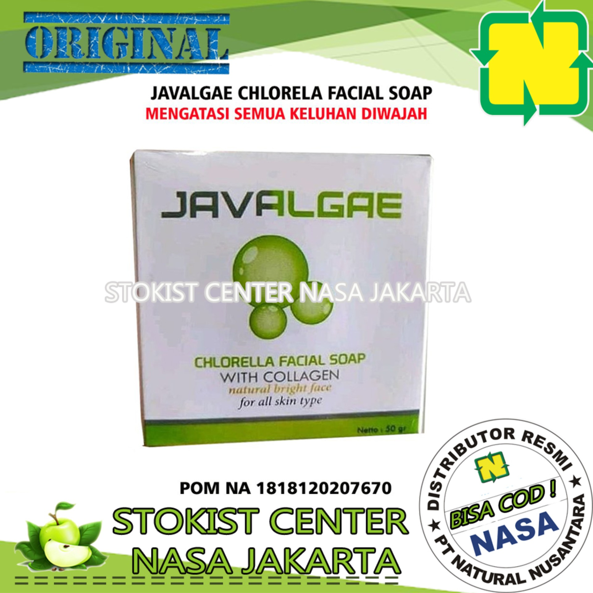sabun wajah javalgae herbal nasa