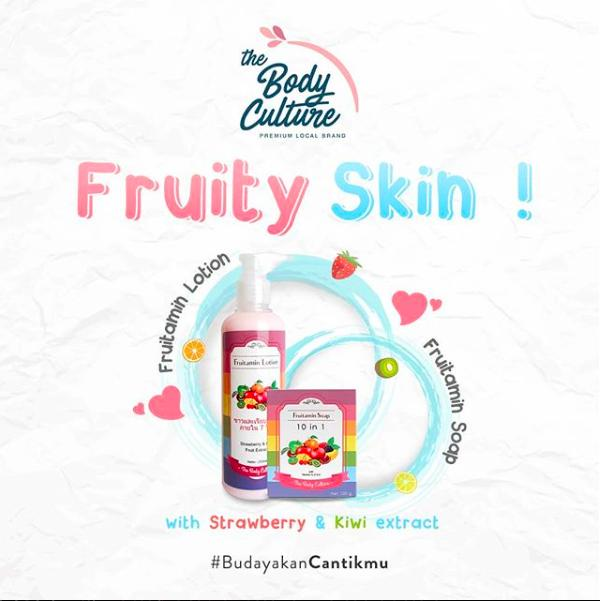 BEST SELLER PAKET FRUITAMIN SOAP 10IN1 + LOTION BPOM ORIGINAL BY THE BODY CULTURE - LEiJHold