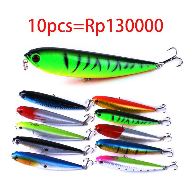 HENGJIA 10 pcs Pensil Memancing Umpan11.5CM 21G Keras Memancing Artificiais Top air Pensil Fishing