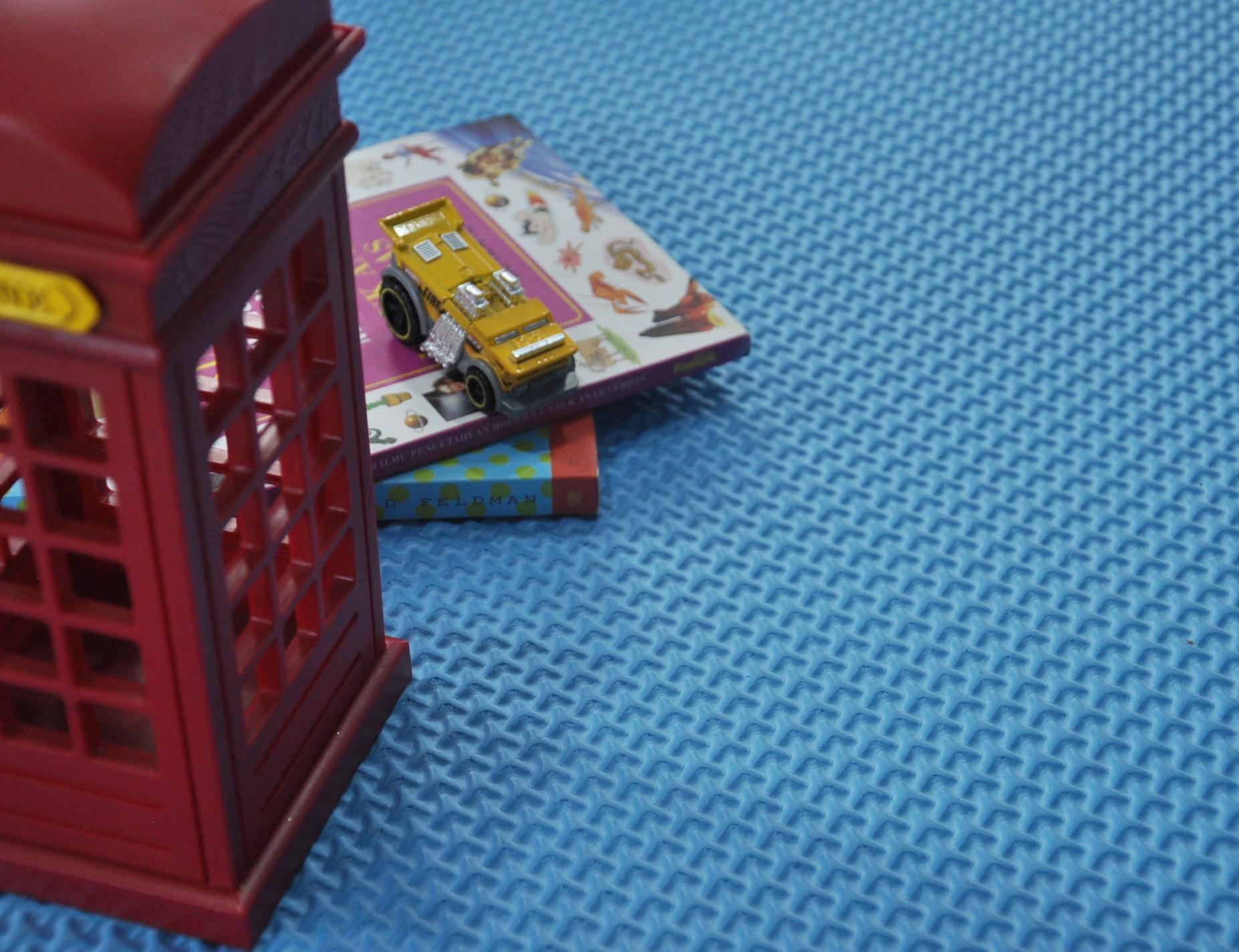 Detail Gambar Karpet Spon Bentol Warna Biru 120x200 Terbaru