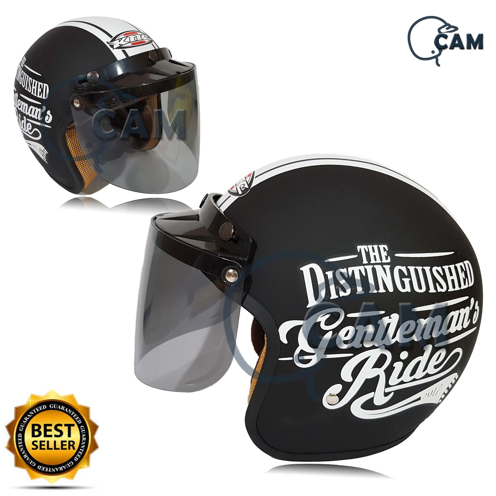 helm bogo gentleman black doff + kaca datar flat bukan jpn cargloss