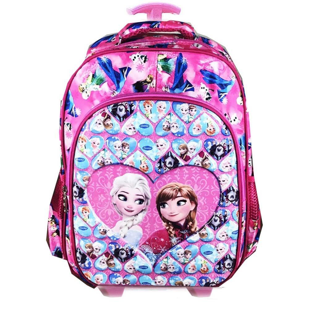 BGC Tas Troley Sekolah Anak SD Frozen Fever Love IMPORT High Quality