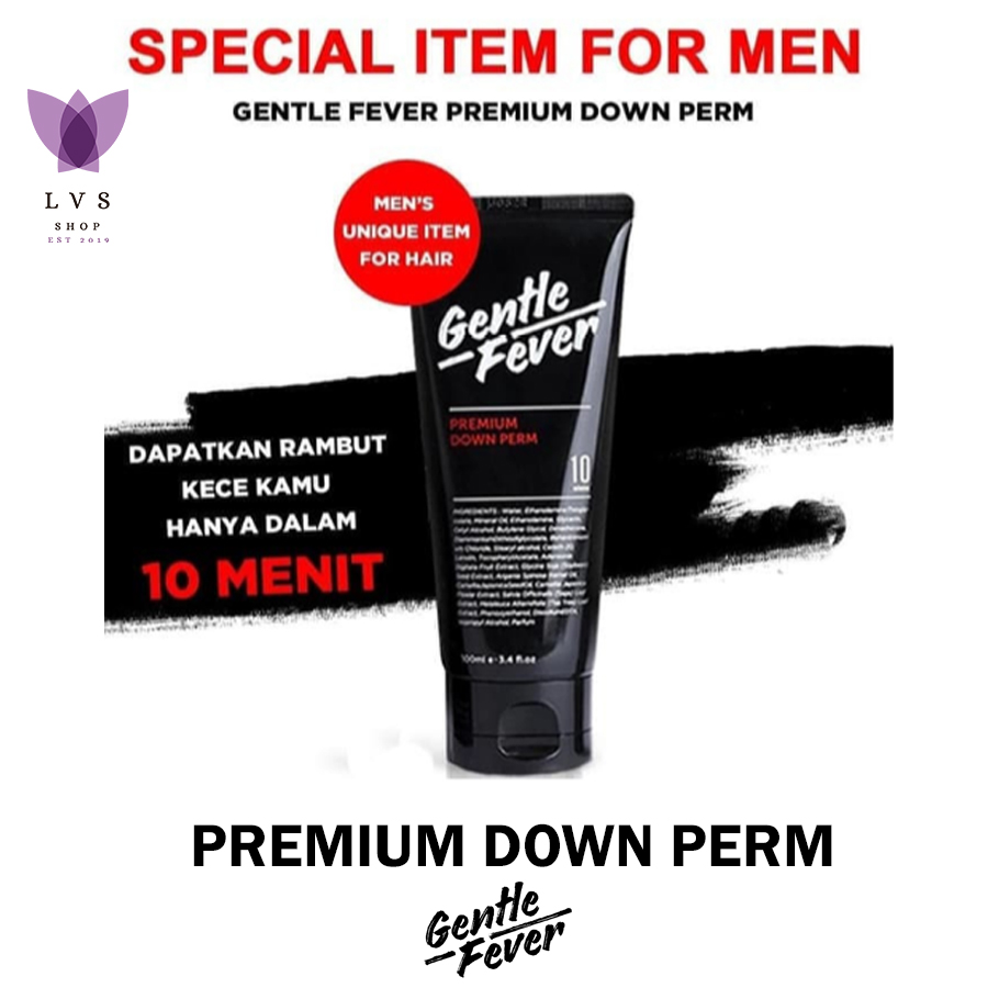 gentle fever – premium down perm (100ml) bpom ori 100% – lvs shop