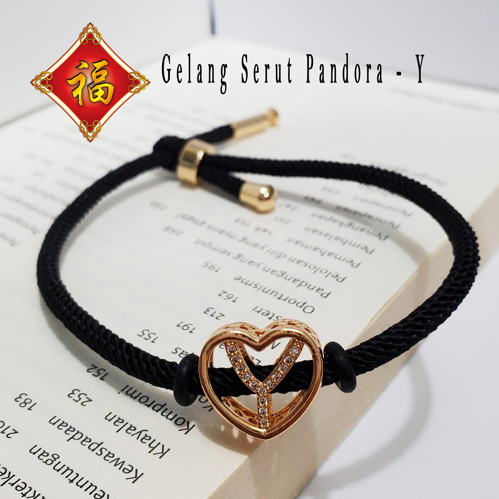 hoki xuping- stok terbatas! gelang tangan huruf abjad inisial pandora xupingwarna perhiasan wanita trend artis anti karat