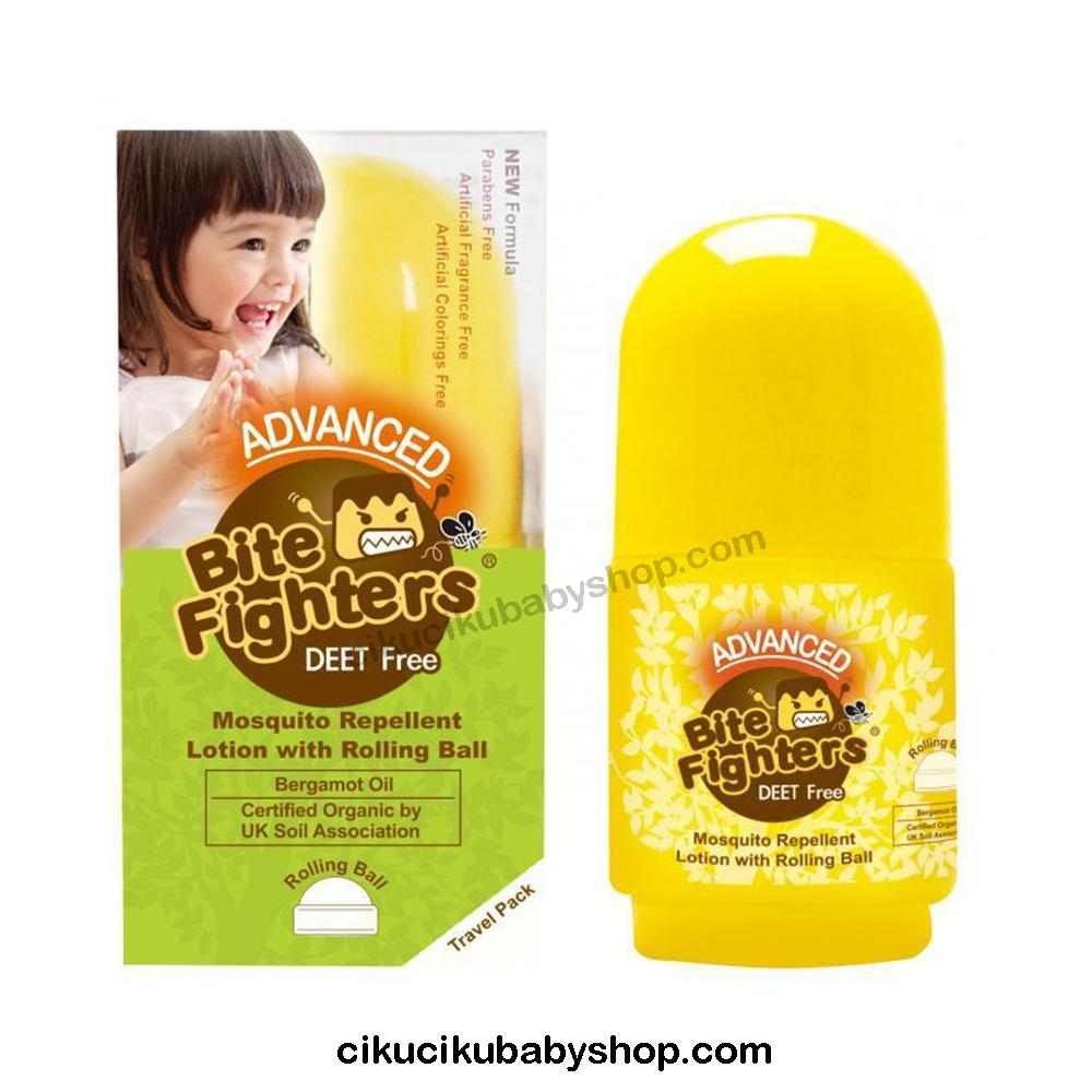 Bite Fighter Organic Musquito Roll On 30ml Lotion Anti Nyamuk Anak