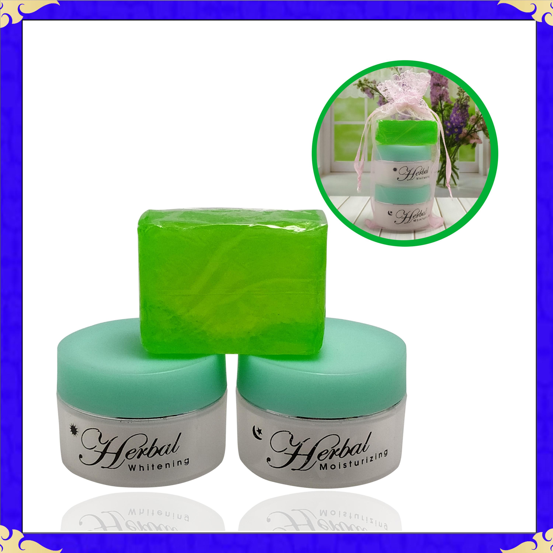 herbal whitening cream – krim herbal pemutih wajah 30 tahun keatas – hijau