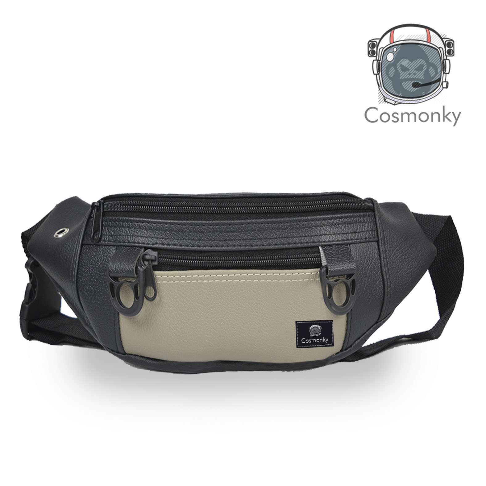 promo tas pinggang waistbag cosmonky jef/tas kulit / crossbody bags / tas selempang casual / tas organizer / tas /enthree
