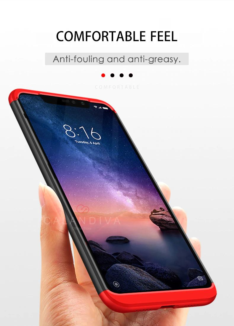 Calandiva Hard Case Xiaomi Redmi Note 6 Pro (6.26 Inch) Casing Premium Front Back 360 Degree Full Protection - 2