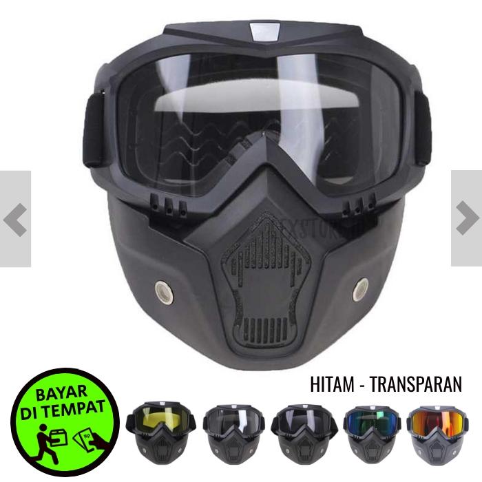 kacamata goggle mask motor retro kaca mata google motor helm cross motorcross masker motor goggles