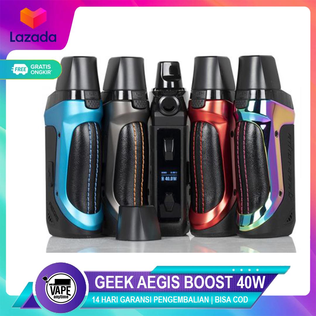 geekvape aegis boost 40w 1500mah pod mod kit authentic – podsiap ngebul/rokokelektrik/podsvape/vapepod siap ngebul/vods siap ngebul/podmod /vaver siap ngebul/vape promo
