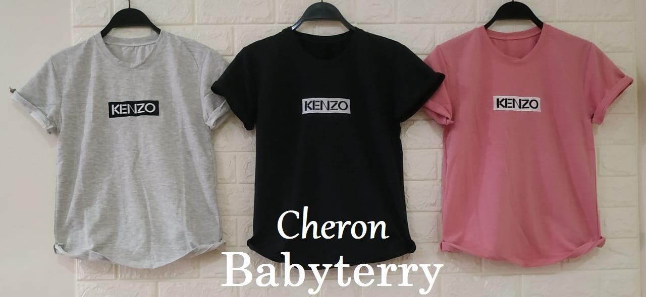 cheron 18625 – kaos oblong wanita baju distro cewek atasan permepuan kekinian  lengan pendek tumblr tee prempuan casual t-shirt babyterry tshirt pakaian remaja dewasa abg untuk santai jalan-jalan pink hitam kunyit