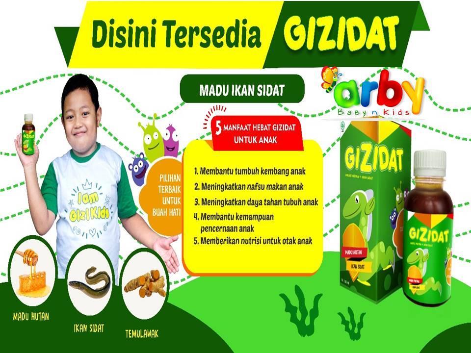 gizidat madu anak ikan sidat / vitamin madu penambah nafsu makan berat baanak / gizidat original (130ml)