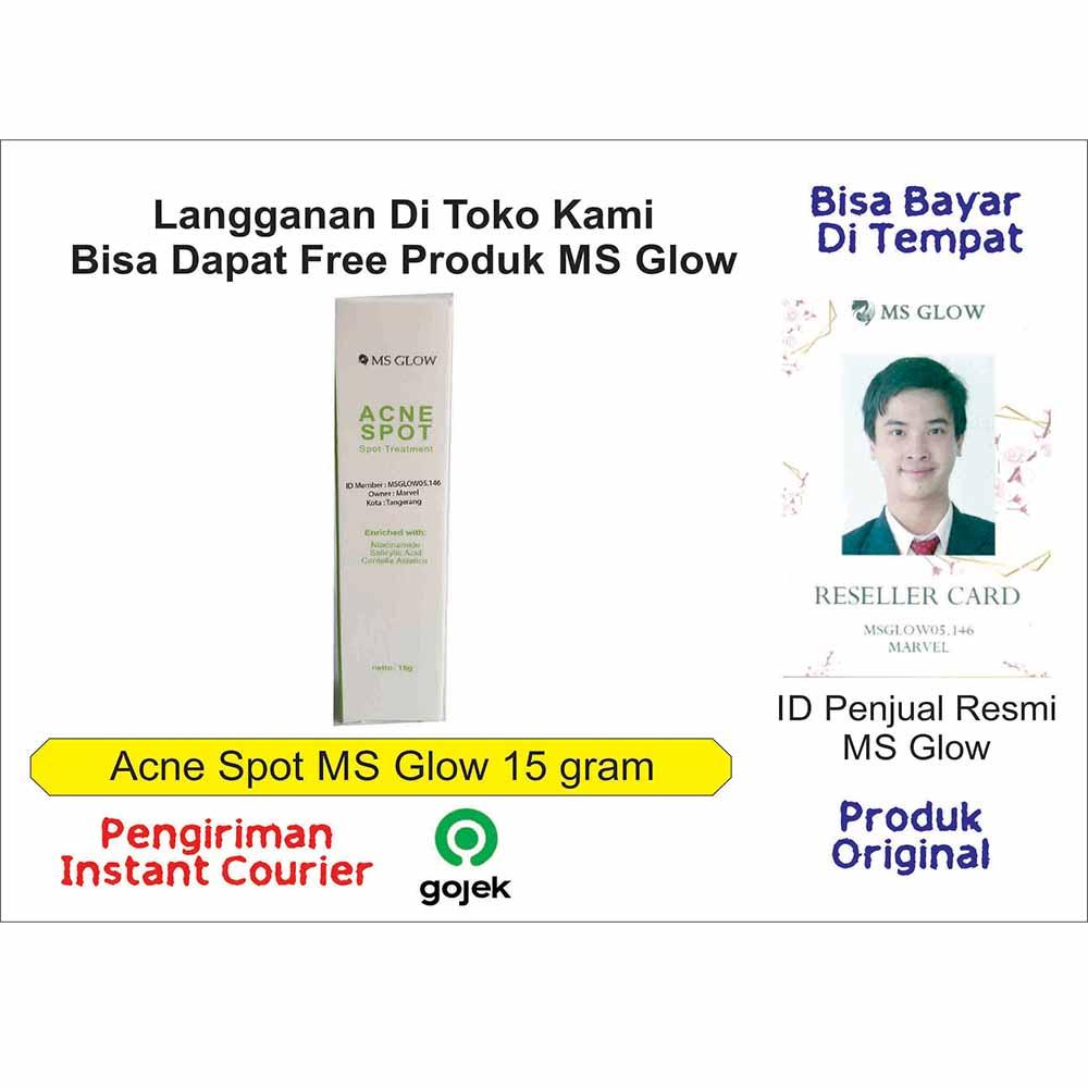 obat cream jerawat ampuh ms glow acne spot 15 gram msglow untuk mengempeskan jerawat bpom