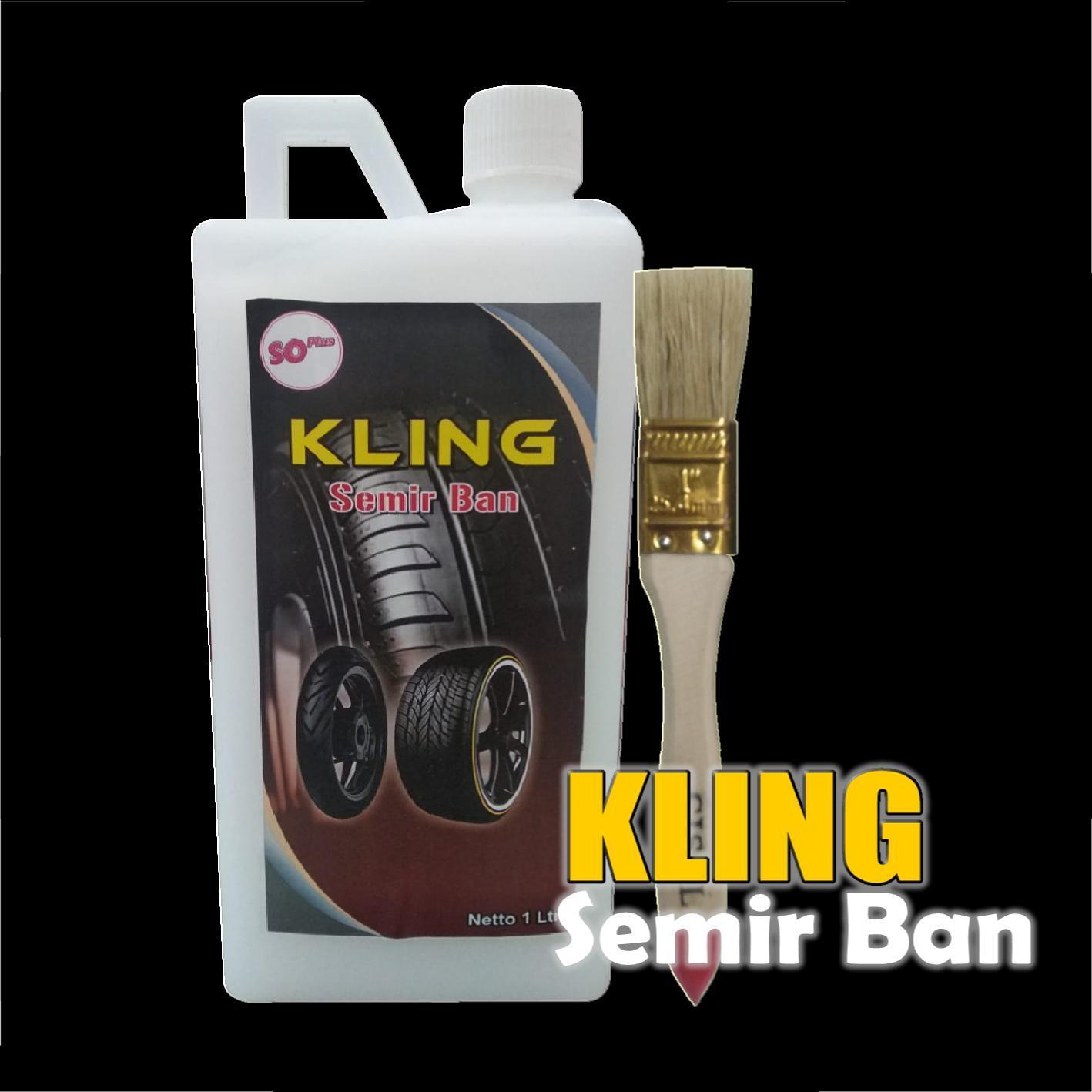 [cod] semir ban kling 1000ml gel premium – original 100%