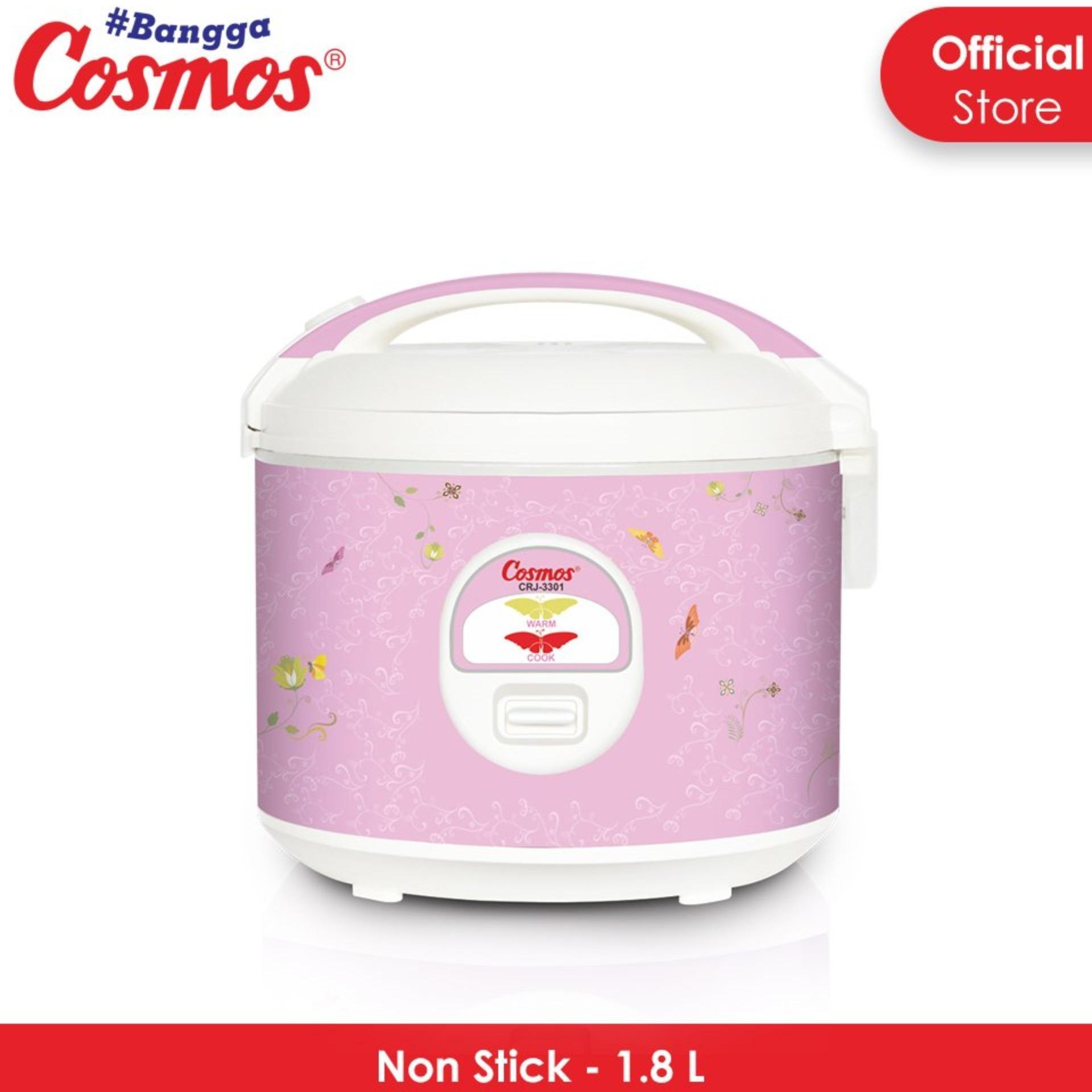 Cosmos Rice Cooker 1.8 Liter 3 in 1 - CRJ3301 - FREE ONGKIR Jabodetabek