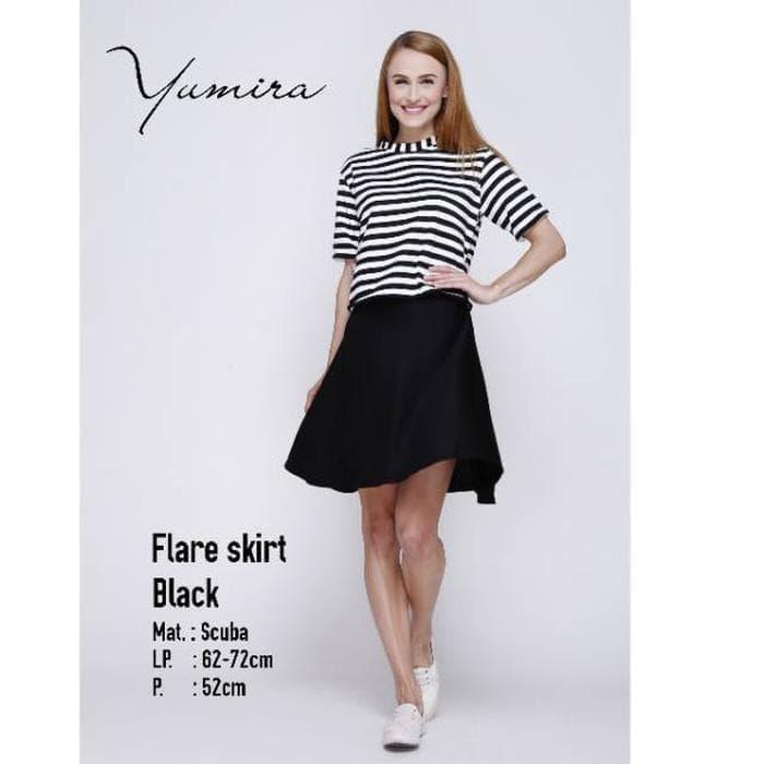 ... Promo Rok Payung Scuba Rok Pendek Flare Skirt Real Pict Ratna Style Shop - 3