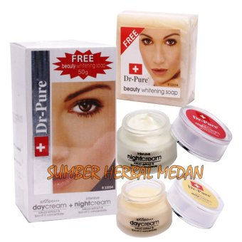 Dr Pure Paket Whitening Cream Plus Sabun Dr.Pure Original - 3 Item