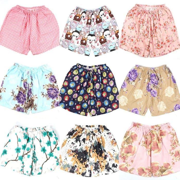 celana pendek santai wanita / celana tidur pendek / hotpants / boxer wanita