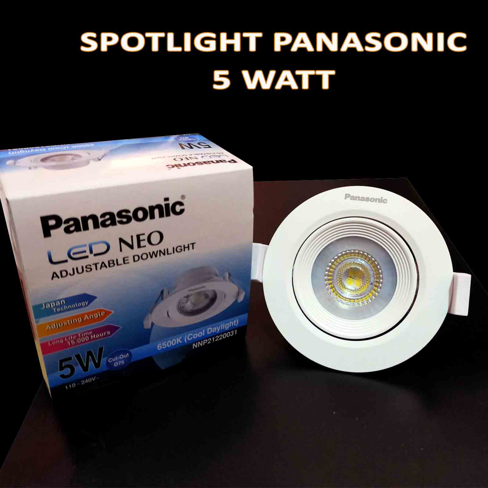 downlight spotlight led/cob 3 watt panasonic neo garansi