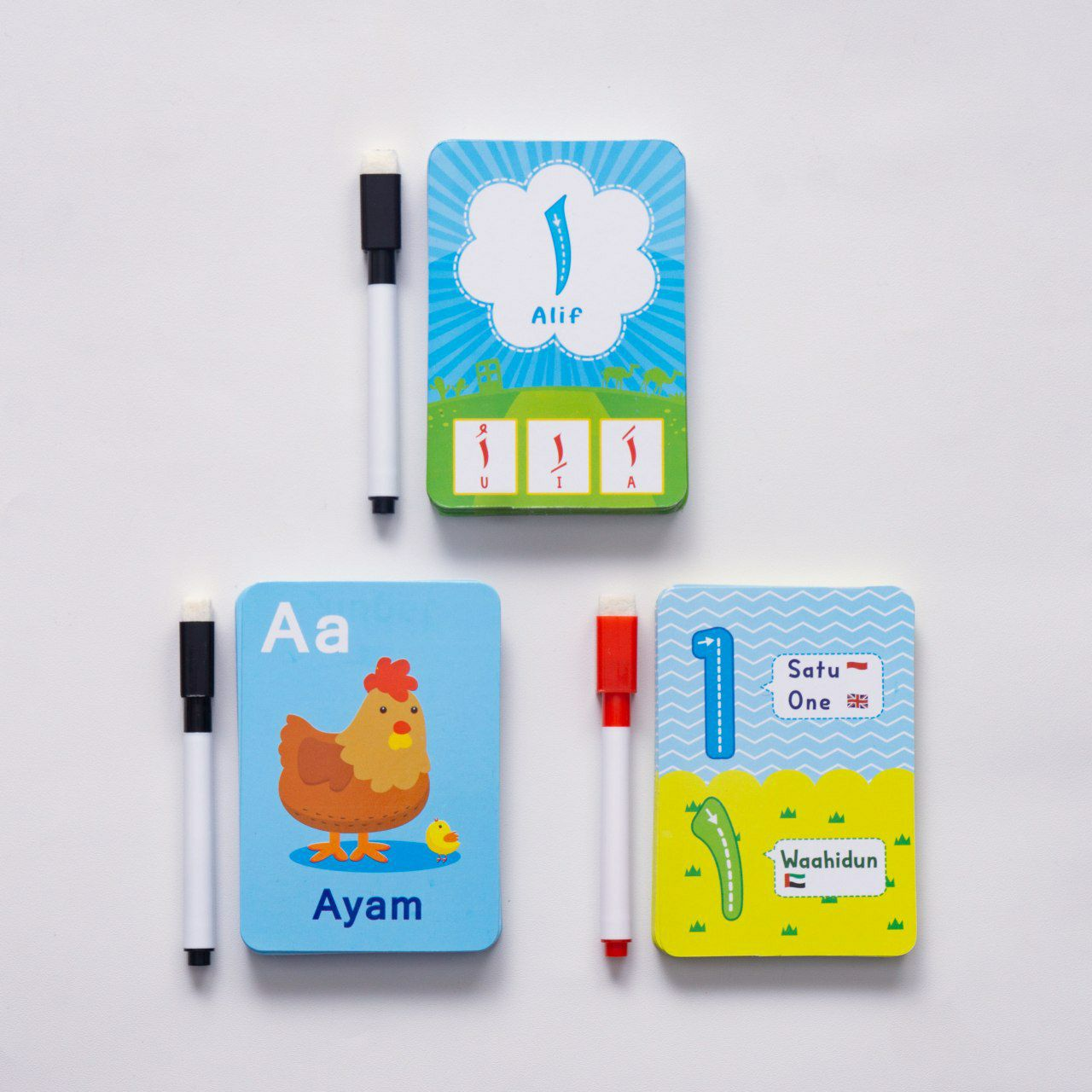 flash card kartu belajar anak cerdas kartu ber angka hurup hijaiyah