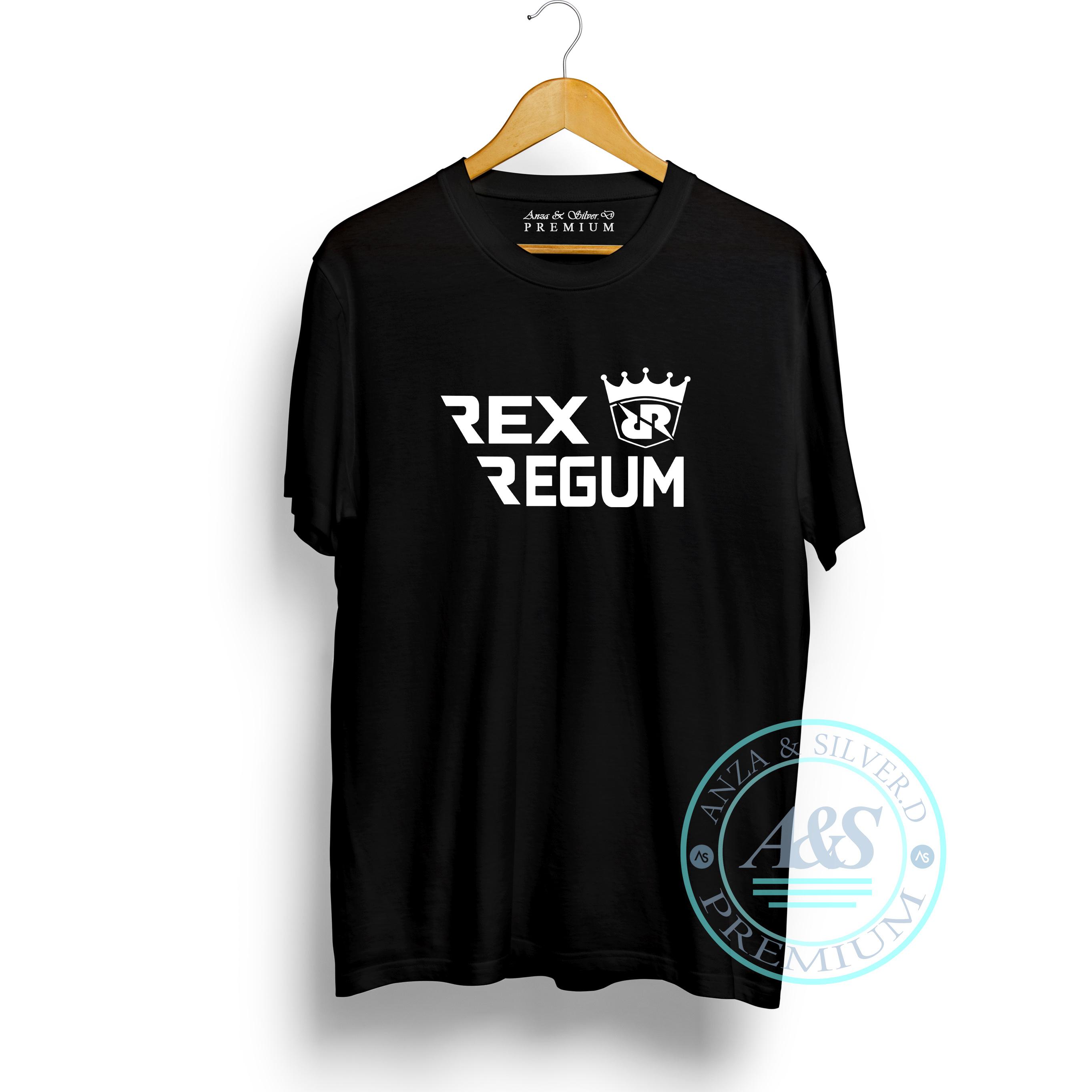 baju kaos rex regum qeon ( rrq ) | t-shirt pria bahan 100% cotton combed 30s kualitas premium | atasan distro pria tulisan