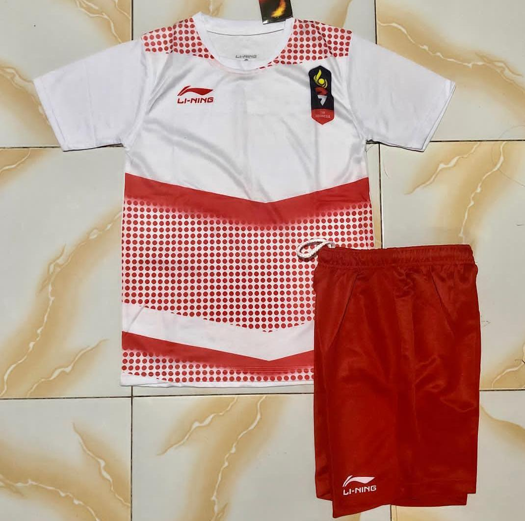 Kaos Baju Badminton Setelan Lining Anak Asian Games Jersey Bulutangkis Murah Promo Diskon Adha Sport